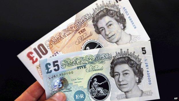 uang plastik inggris