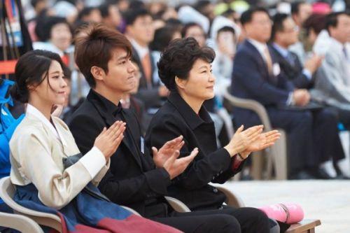 Foto Lee Min-ho dan Presiden Korsel3